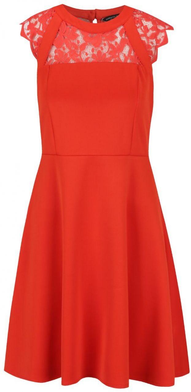 0d41432d8408 Červené šaty s čipkovaným sedom Dorothy Perkins značky Dorothy Perkins -  Lovely.sk