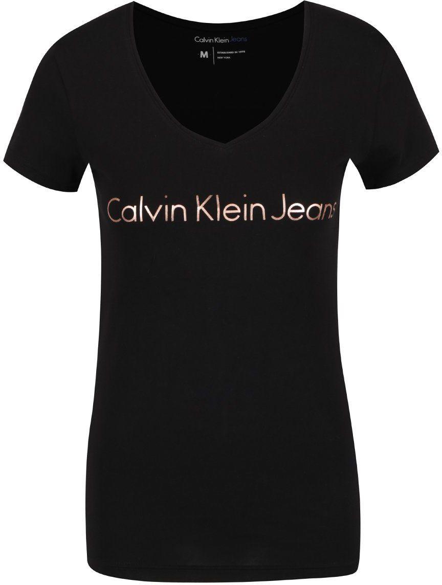2e9e6cd52 Čierne dámske tričko Calvin Klein Jeans Tess značky Calvin Klein Jeans -  Lovely.sk