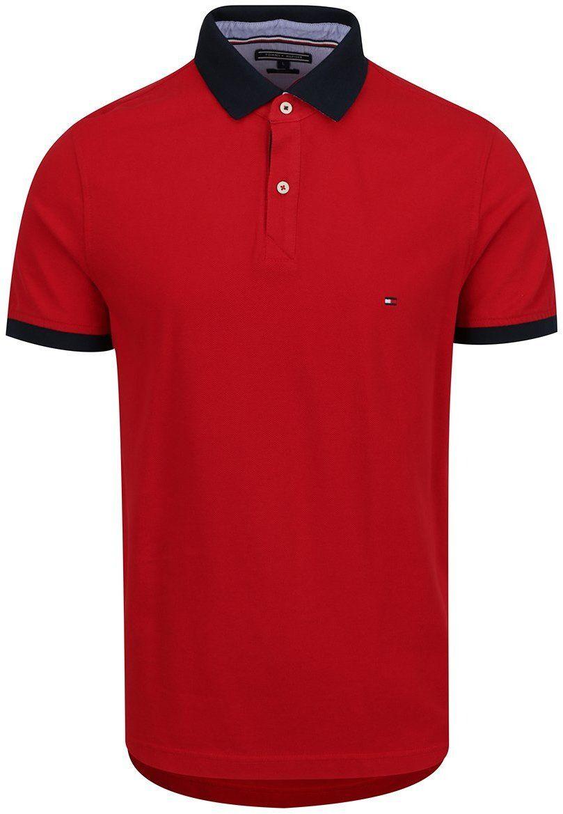 Červená pánska polokošeľa s modrým golierom Tommy Hilfiger značky Tommy  Hilfiger - Lovely.sk 7ebecf0a19e