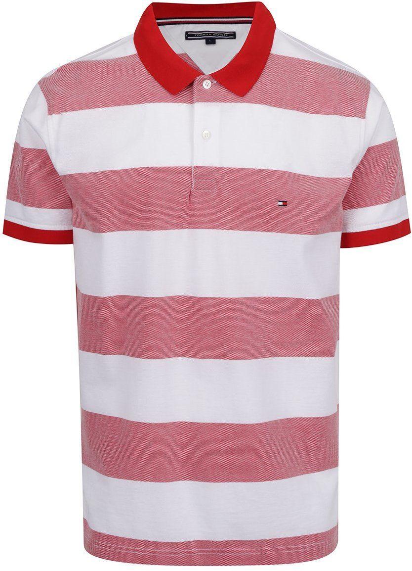Bielo-červená pánska pruhovaná polokošeľa Tommy Hilfiger značky Tommy  Hilfiger - Lovely.sk c5033639899