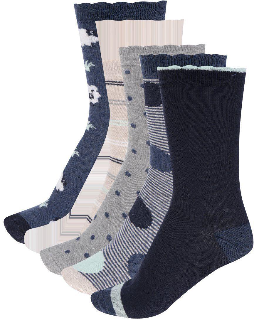 694a98bc42284 Súprava piatich párov dámskych ponožiek v modrej, sivej a béžovej farbe  M&Co značky M&Co - Lovely.sk