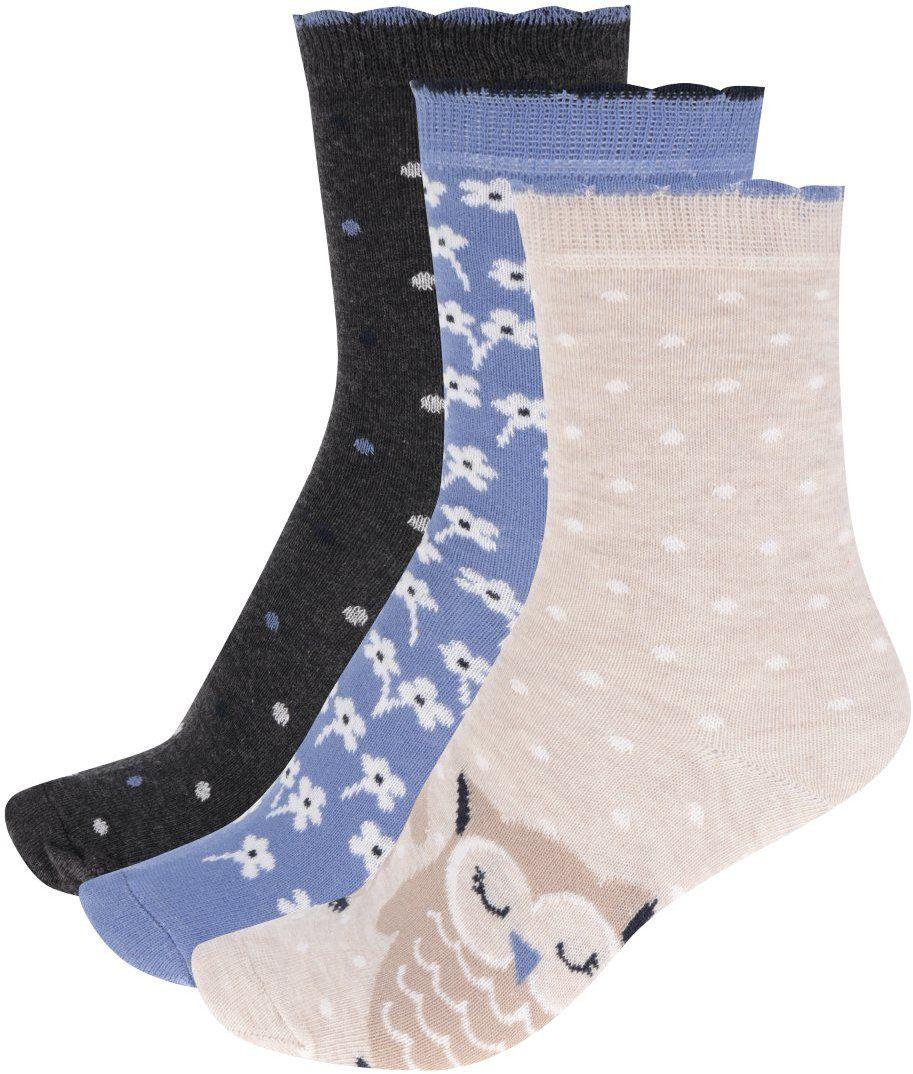 fe242ca97142d Súprava troch párov dámskych vzorovaných ponožiek v modrej a béžovej farbe  M&Co značky M&Co - Lovely.sk