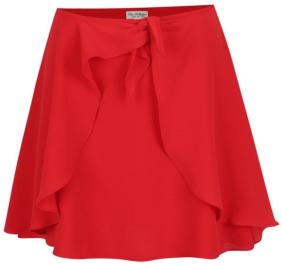02ddc0ca9101 Červená sukňa s volánmi a uzlom Miss Selfridge značky Miss Selfridge -  Lovely.sk
