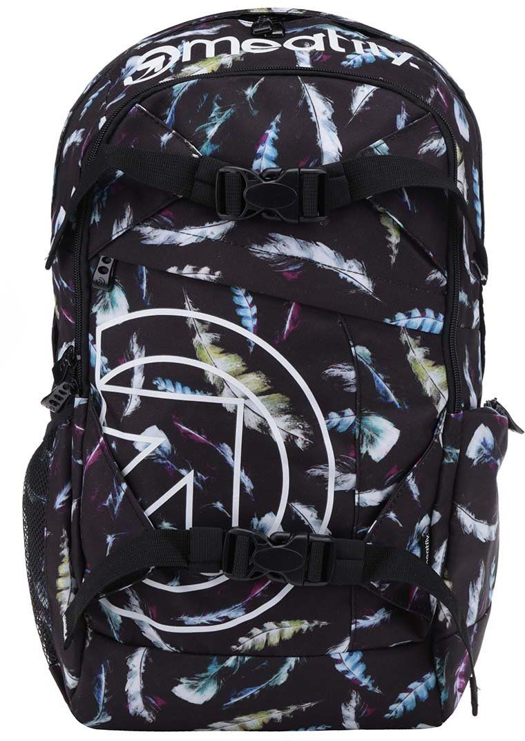 9c6c5e2184f Čierny unisex batoh s potlačou pierok Meatfly Basejumper 20 l značky  Meatfly - Lovely.sk