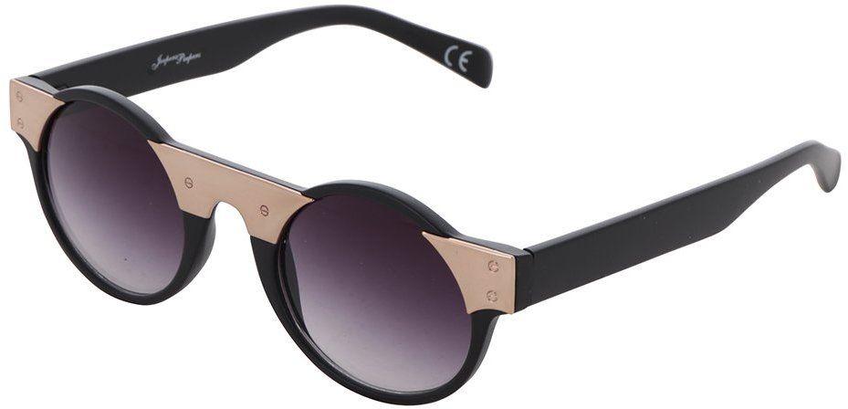 Čierne okrúhle okuliare s dizajnovým prvkom v zlatej farbe Jeepers Peepers  značky Jeepers Peepers - Lovely.sk 604ba418651