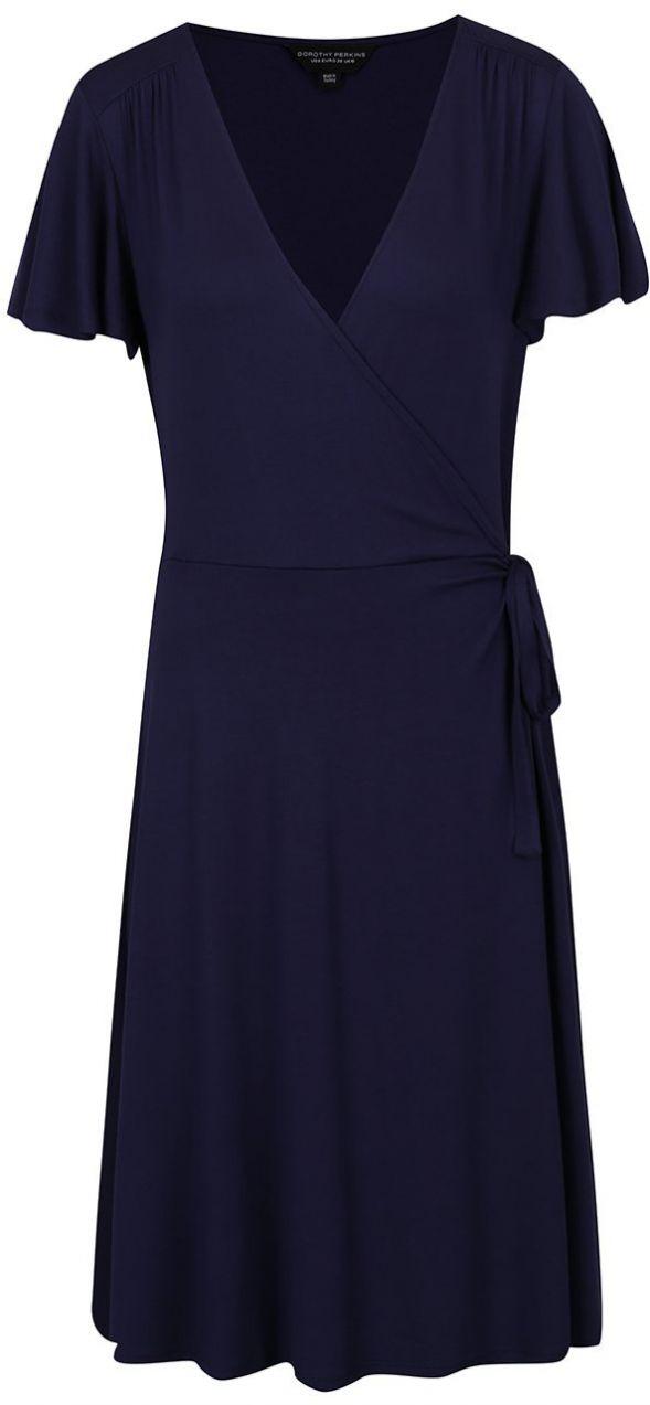 4ef757a8c15b Tmavomodré šaty s prekladaným výstrihom Dorothy Perkins Tall značky Dorothy  Perkins Tall - Lovely.sk