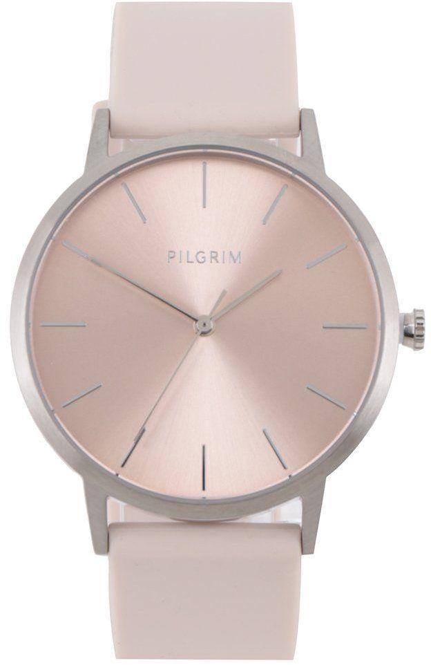 Dámske postriebrené hodinky so silikónovým remienkom PILGRIM značky Pilgrim  - Lovely.sk 37545c89b7c