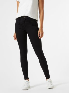 Čierne skinny fit rifle Dorothy Perkins Tall