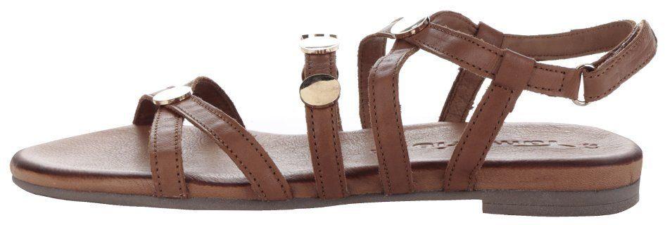 8f4098c4df Hnedé kožené sandále s detailmi v zlatej farbe Tamaris značky Tamaris -  Lovely.sk