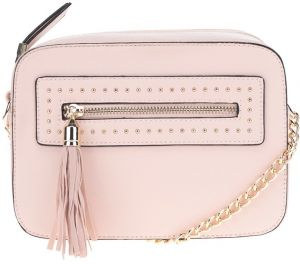 Ružová crossbody kabelka so strapcom Miss Selfridge