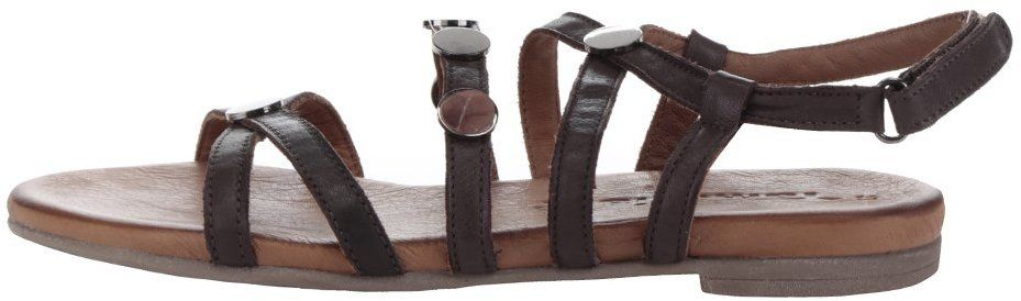 62dc47092f9f Tmavohnedé kožené sandále s detailmi v sivej farbe Tamaris značky Tamaris -  Lovely.sk