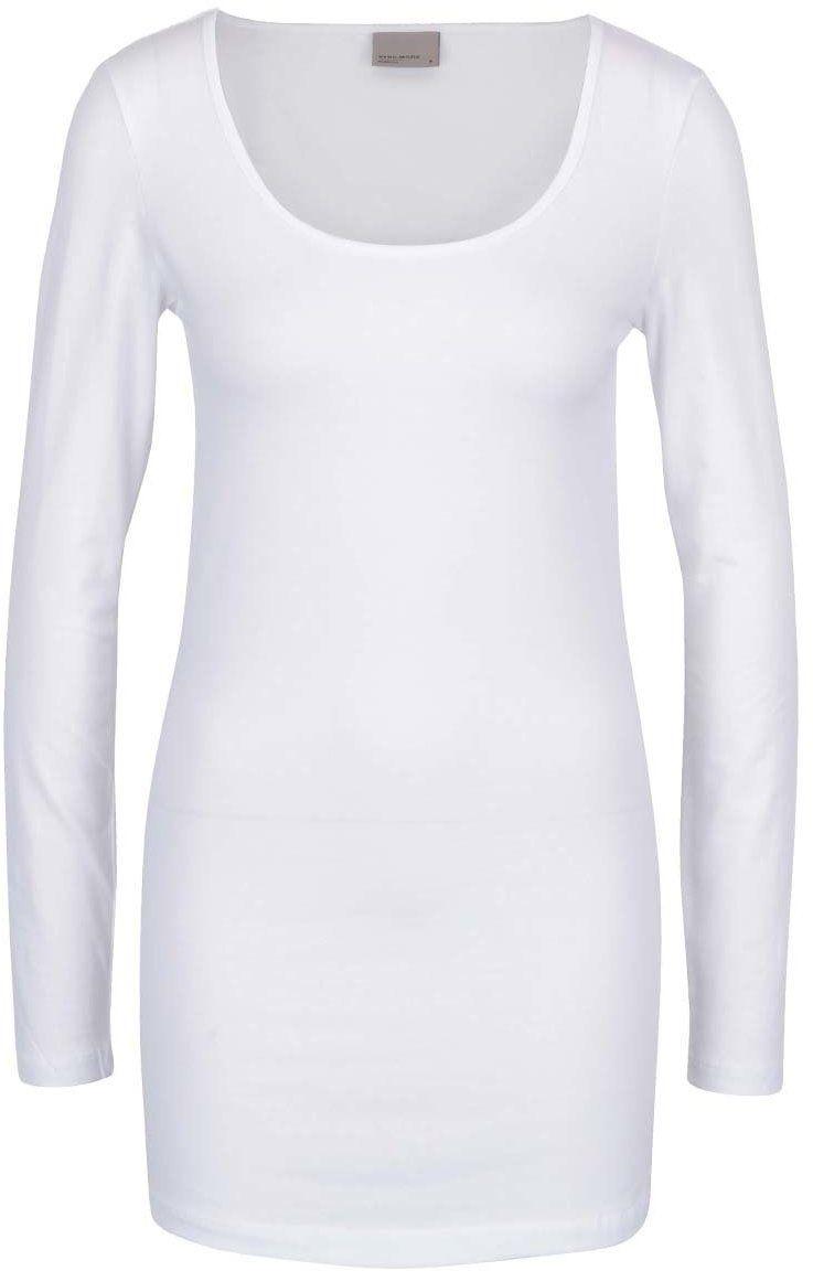 05671fcae191 Biele dlhé basic tričko s dlhým rukávom VERO MODA Maxi My značky ...