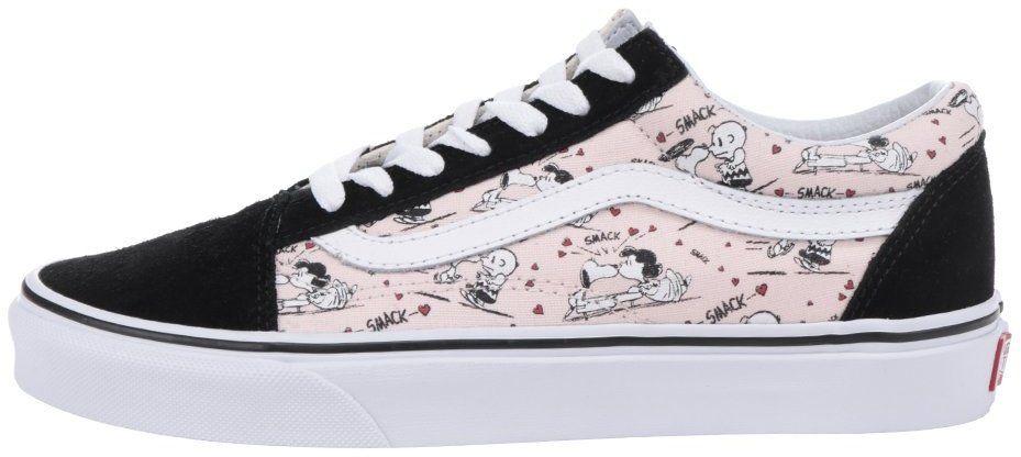 Ružovo-čierne dámske tenisky so semišovými detailmi VANS Old Skool značky  Vans - Lovely.sk f38fb71a9f8