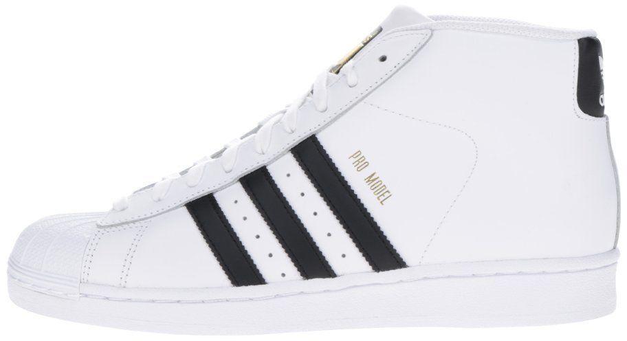Biele pánske kožené členkové tenisky adidas Originals Pro Model Vintage  značky adidas Originals - Lovely.sk 4ab7aca036e
