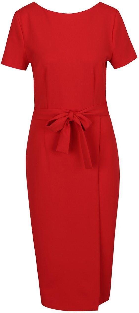 3e9c5be852b4 Červené šaty s výstrihom na chrbte a zipsom v zlatej farbe Dorothy Perkins  Tall značky Dorothy Perkins Tall - Lovely.sk