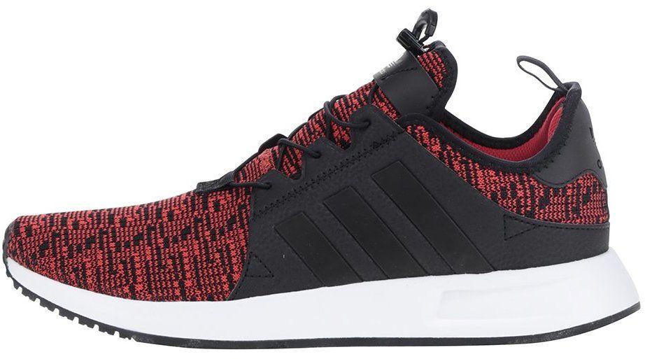 Čierno-červené melírované pánske tenisky adidas Originals X  PLR značky  adidas Originals - Lovely.sk 69a508f155