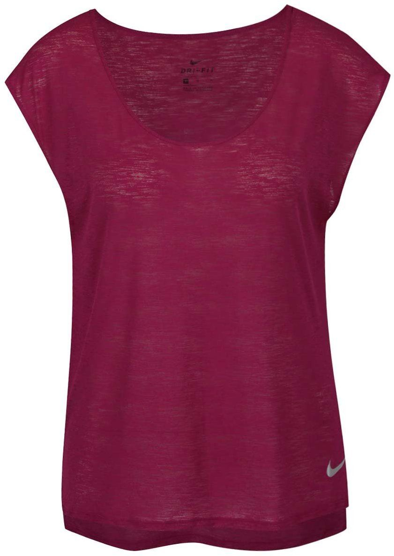 dd9d1f6acfdf Fialové dámske funkčné tričko s krátkym rukávom Nike značky Nike - Lovely.sk