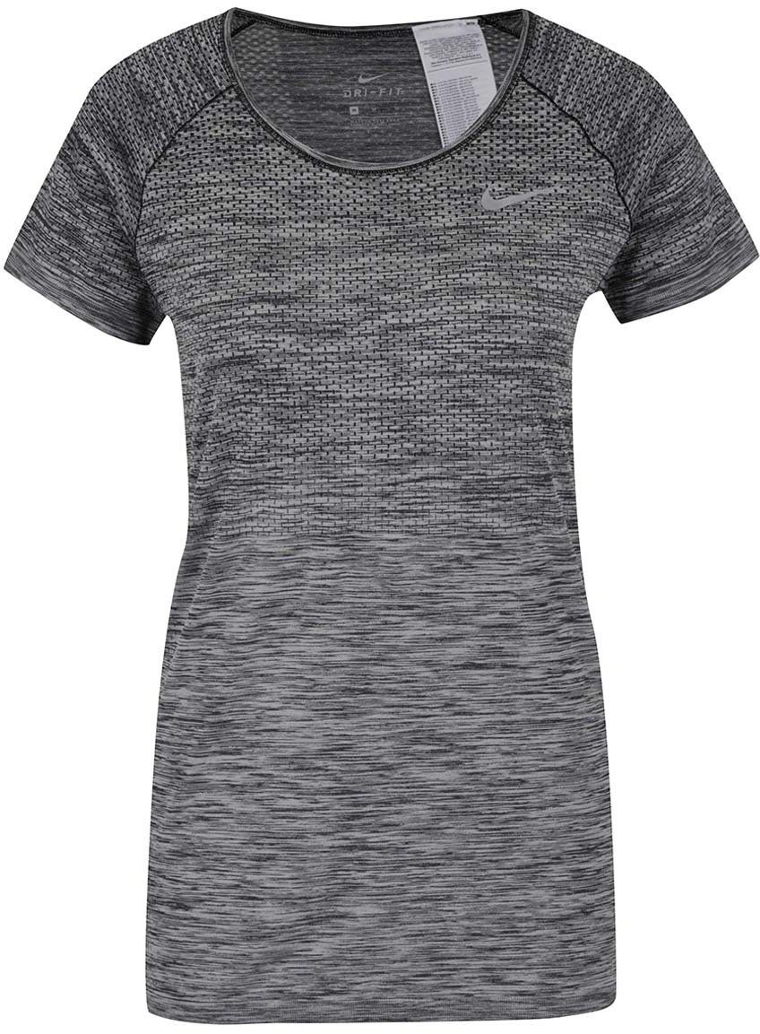 402bb6371a3d Sivé dámske melírované funkčné tričko s krátkym rukávom Nike značky Nike -  Lovely.sk