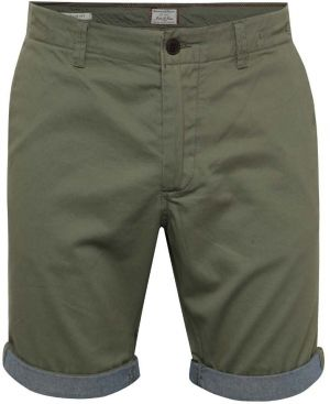 Kaki chino kraťasy s detailmi Jack & Jones Peek