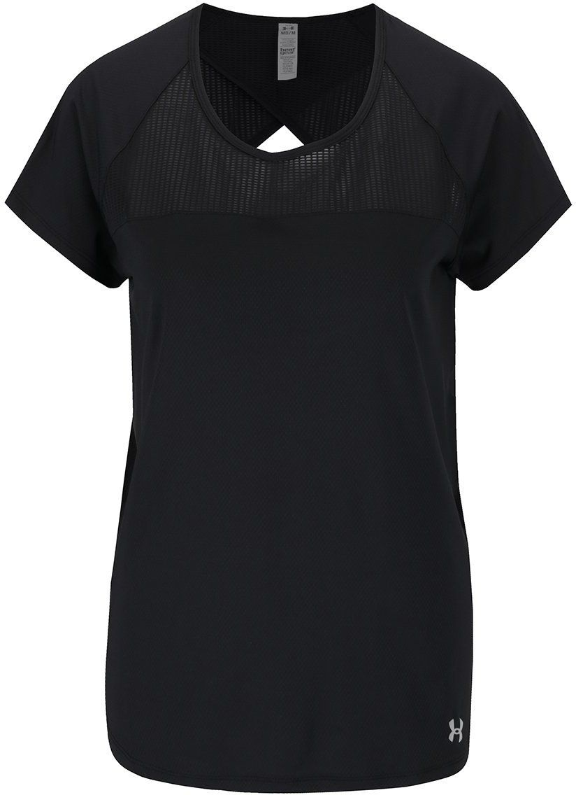 Čierne dámske funkčné tričko s výstrihom na chrbte Under Armour Fly By  značky UNDER ARMOUR - Lovely.sk 52f9c9e41f7