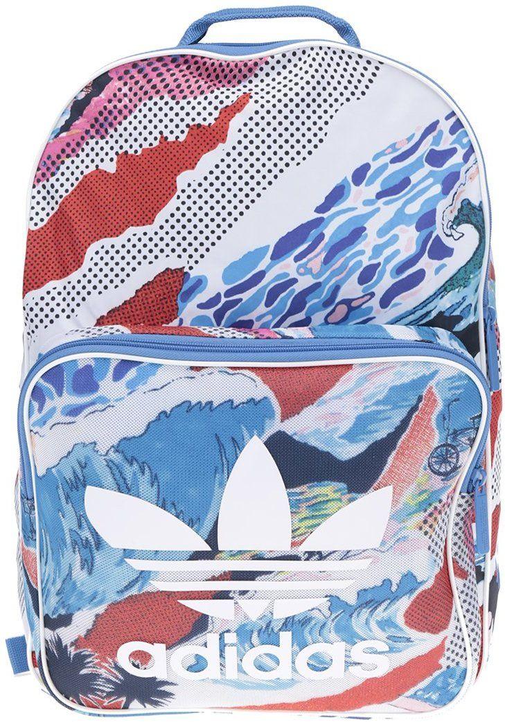 ed56c7a38b Bielo-modrý vzorovaný unisex batoh adidas Originals značky adidas Originals  - Lovely.sk