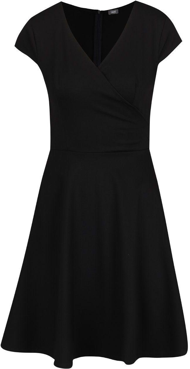 Čierne šaty s prekladaným výstrihom ZOOT značky ZOOT - Lovely.sk d04b436b51a