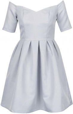 9001dede784a Svetlomodré šaty s odhalenými ramenami Chi Chi London Finola