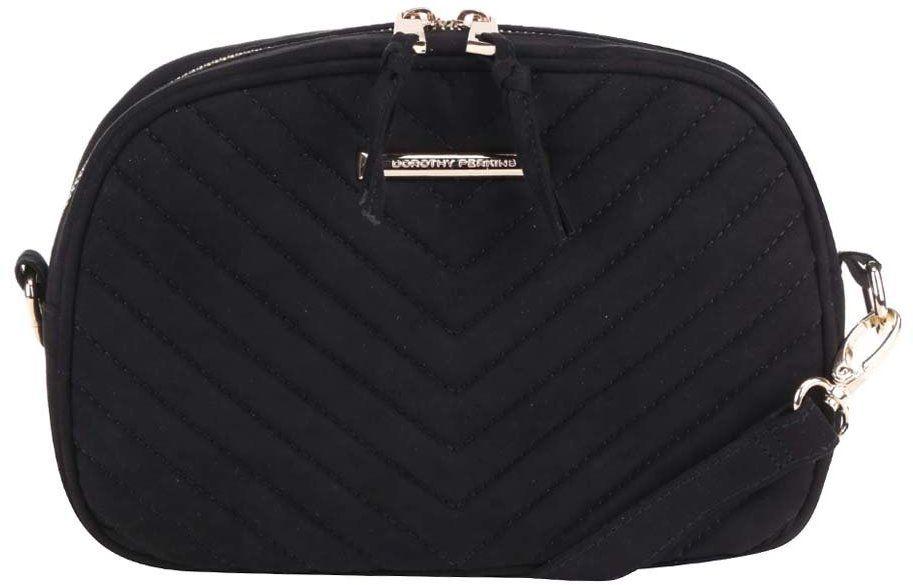 Čierna prešívaná menšia crossbody kabelka lístoček Dorothy Perkins značky  Dorothy Perkins - Lovely.sk 45143bc67d8