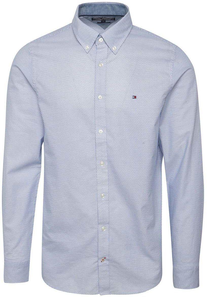 047c96a85a46 Bielo-modrá pánska vzorkovaná slim fit košeľa Tommy Hilfiger značky Tommy  Hilfiger - Lovely.sk