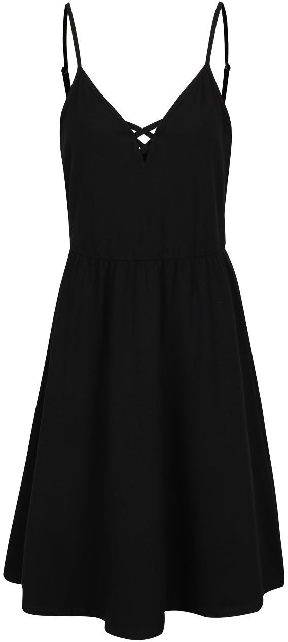 df708da8d776 Čierne šaty na ramienka s remienkami v dekolte Noisy May Nayeem značky  Noisy May - Lovely.sk