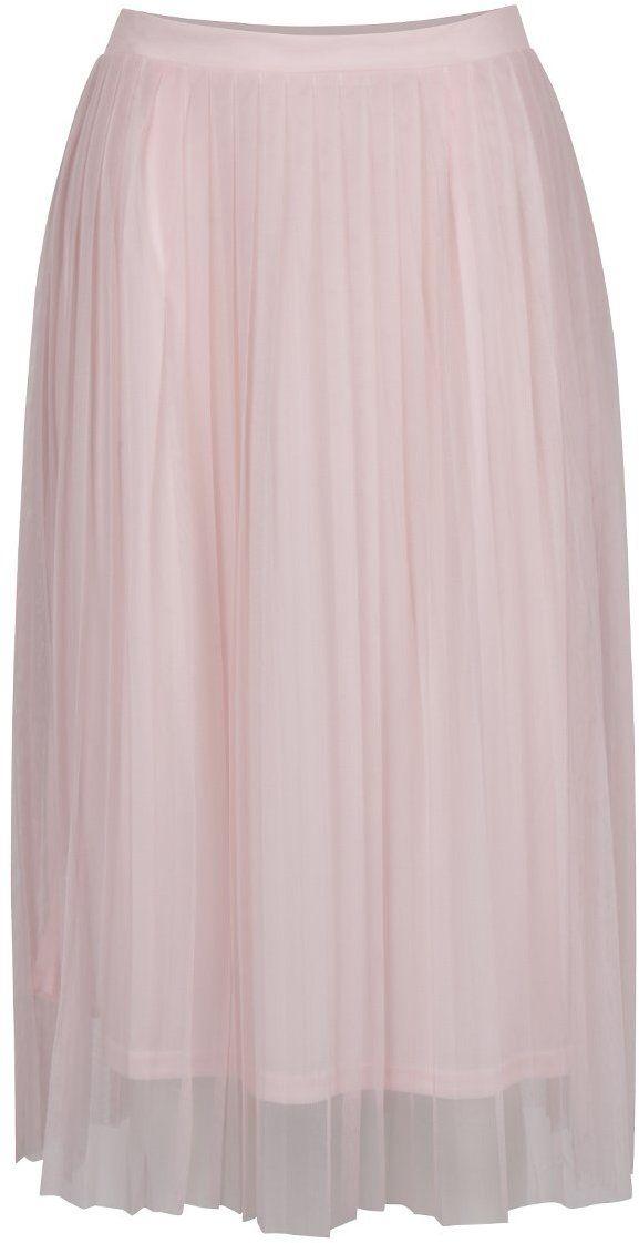 Ružová tylová plisovaná midi sukňa ONLY Fiona značky ONLY - Lovely.sk 2132451763