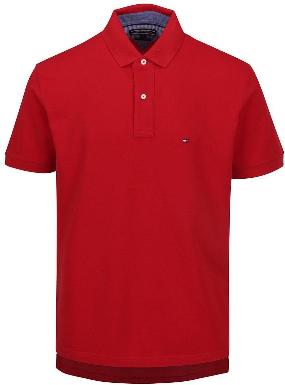 Červená pánska polokošeľa Tommy Hilfiger značky Tommy Hilfiger - Lovely.sk baa6a0f2eba