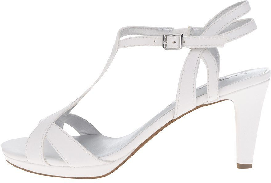 ec244eaaad38 Biele remienkové sandále na podpätku Tamaris značky Tamaris - Lovely.sk