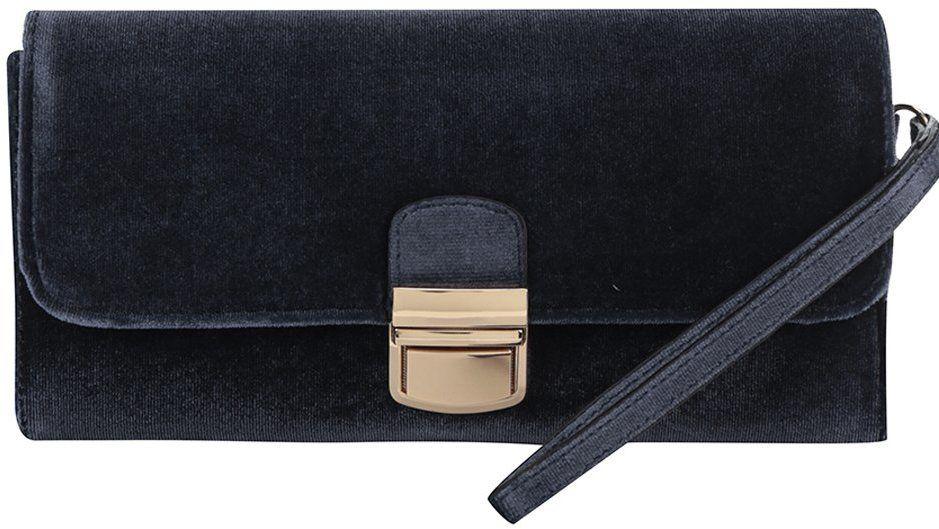 cb55115aaf6b Tmavomodrá listová kabelka so sponou v zlatej farbe Dorothy Perkins značky  Dorothy Perkins - Lovely.sk