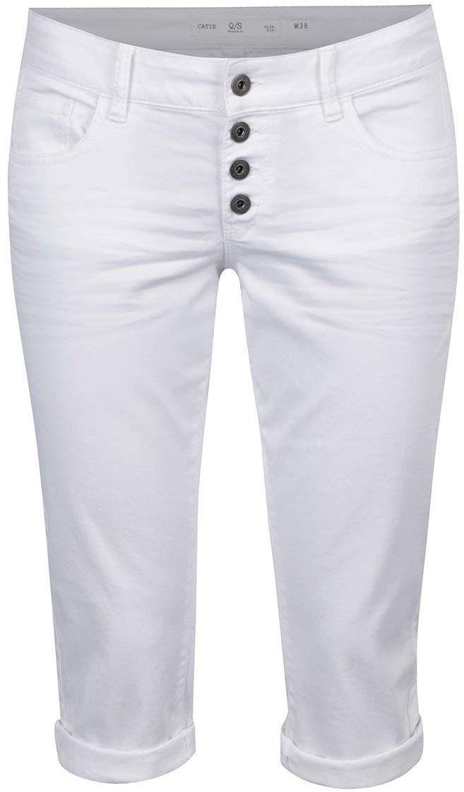 670c21c0c414 Biele dámske 3 4 slim fit nohavice s nízkym pásom QS by s.Oliver značky QS  by s.Oliver - Lovely.sk