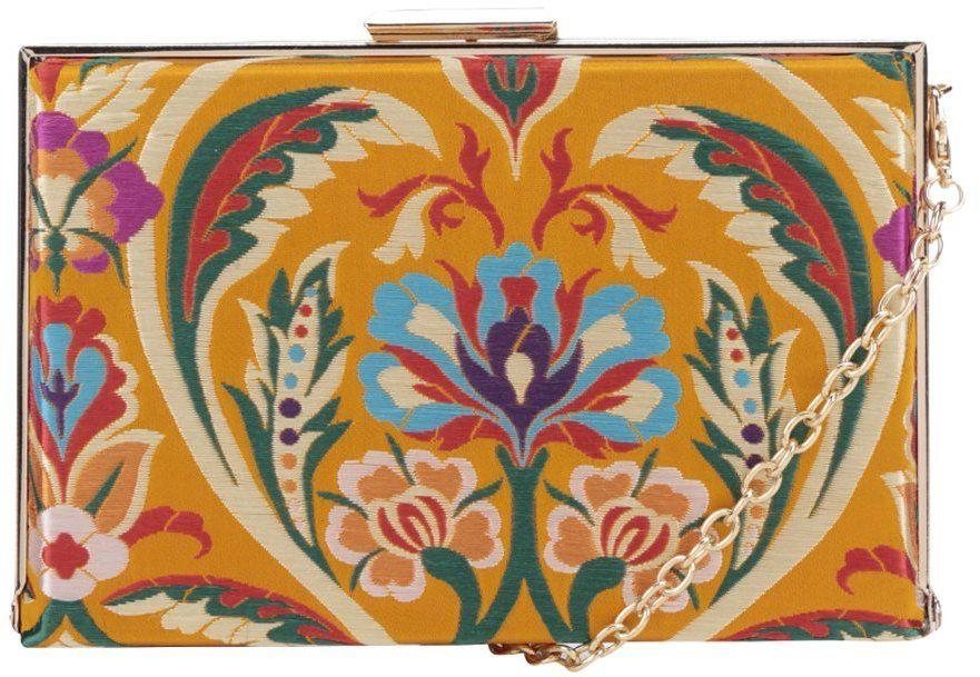aa3f1259d Žltá listová kabelka s vyšívaným motívom a detailmi v zlatej farbe Dorothy  Perkins značky Dorothy Perkins - Lovely.sk