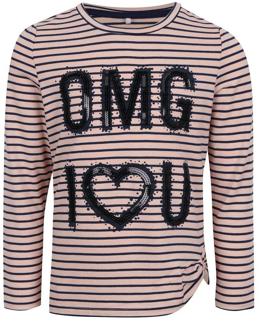 b943702fb7b2 Ružové dievčenské pruhované tričko s filtrami name it Haily značky name it  - Lovely.sk