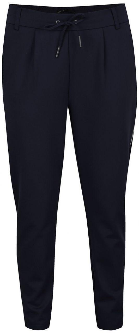 Tmavomodré nohavice s pružným pásom ONLY Poptrash značky ONLY - Lovely.sk c1cdd590e78