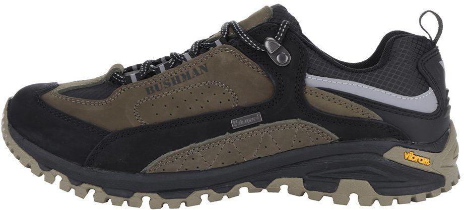 Čierno-zelené pánske kožené tenisky BUSHMAN Chipo značky Bushman - Lovely.sk 608325a4de2