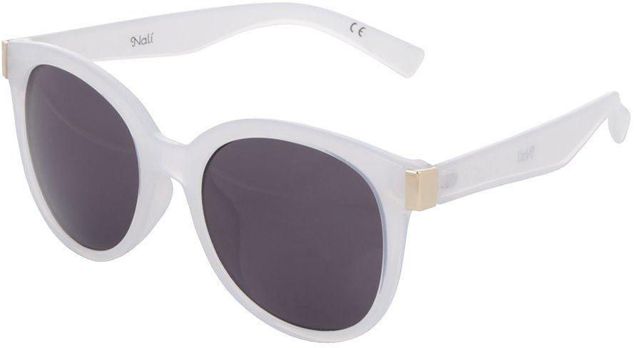 d97e0ffbc Biele dámske slnečné okuliare s čiernymi sklami Nalí značky Nalí - Lovely.sk