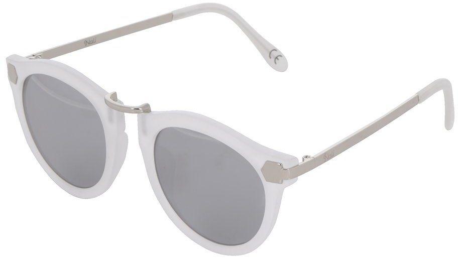 de9bf9f2e Biele dámske slnečné okuliare s detailmi v striebornej farbe Nalí značky  Nalí - Lovely.sk