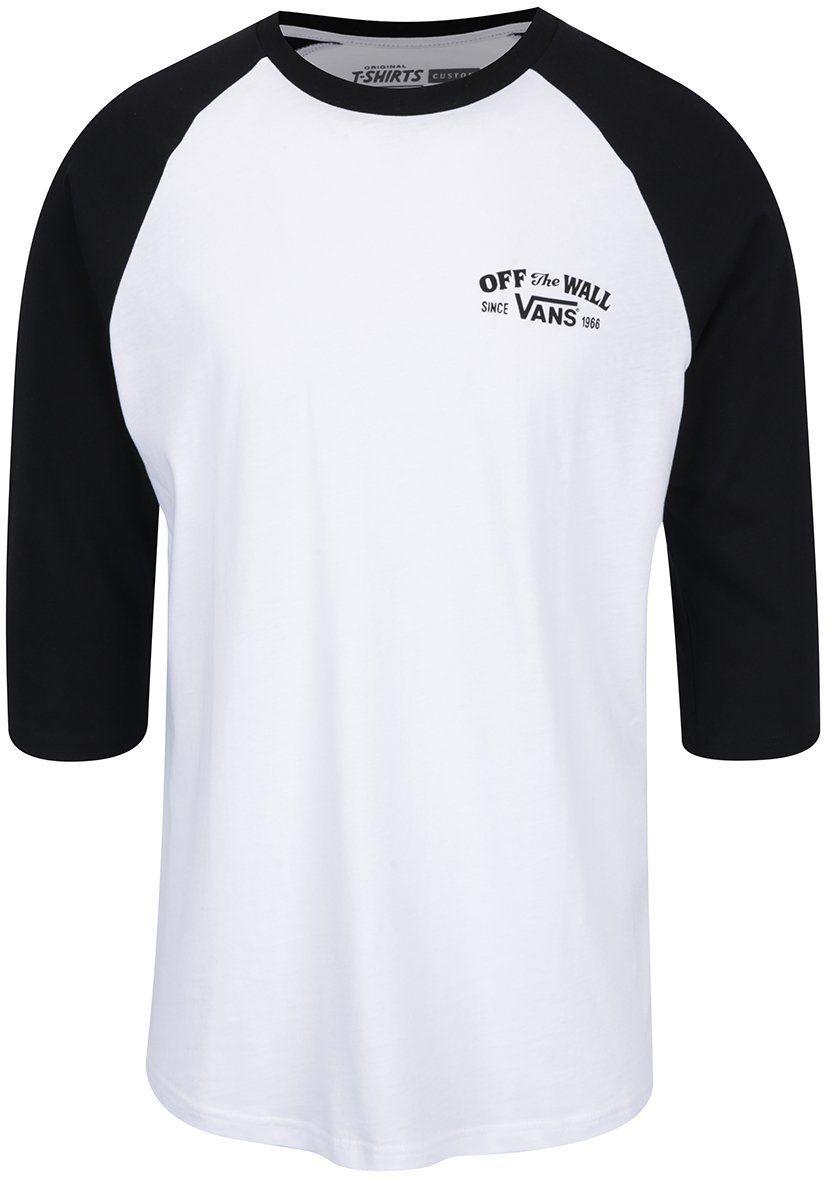 60a1ede4d60 Čierno-biele pánske tričko s potlačou Vans