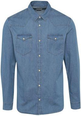 Svetlomodrá rifľová slim fit košeľa Selected Homme One Ned 8966e1bcee1