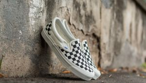 Vans OG Classic Slip On LX (Canvas) Black/ White Checkerboard US 4