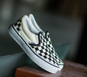 Vans K Classic Slip-On (Checkerboard) Black/ White EUR 31.5