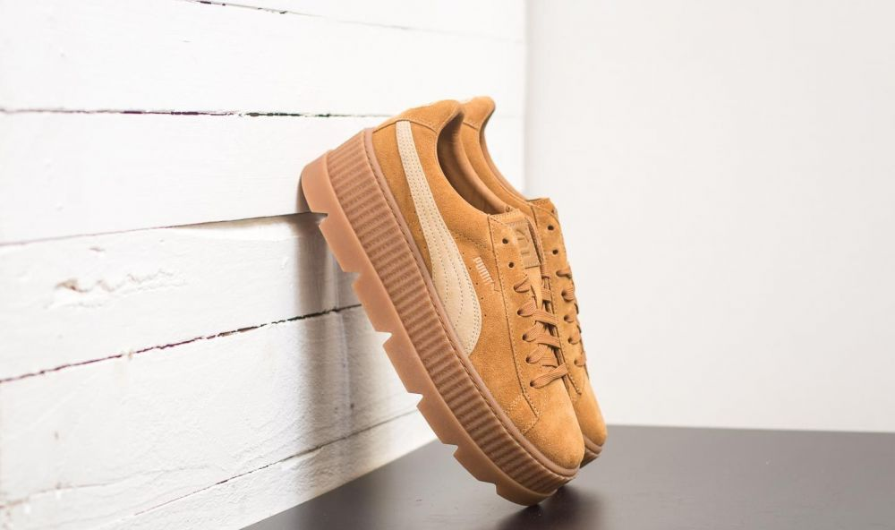 Puma Fenty Cleated Creeper Suede Golden Brown-Lark EUR 44 značky ... d5deacf95fa