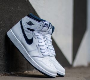 Air Jordan 1 Retro High OG White/ Midnight Navy US 11