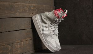 adidas Forum Winter Primeknit Grey Two/ Ftw White/ Scarlet EUR 38 2/3