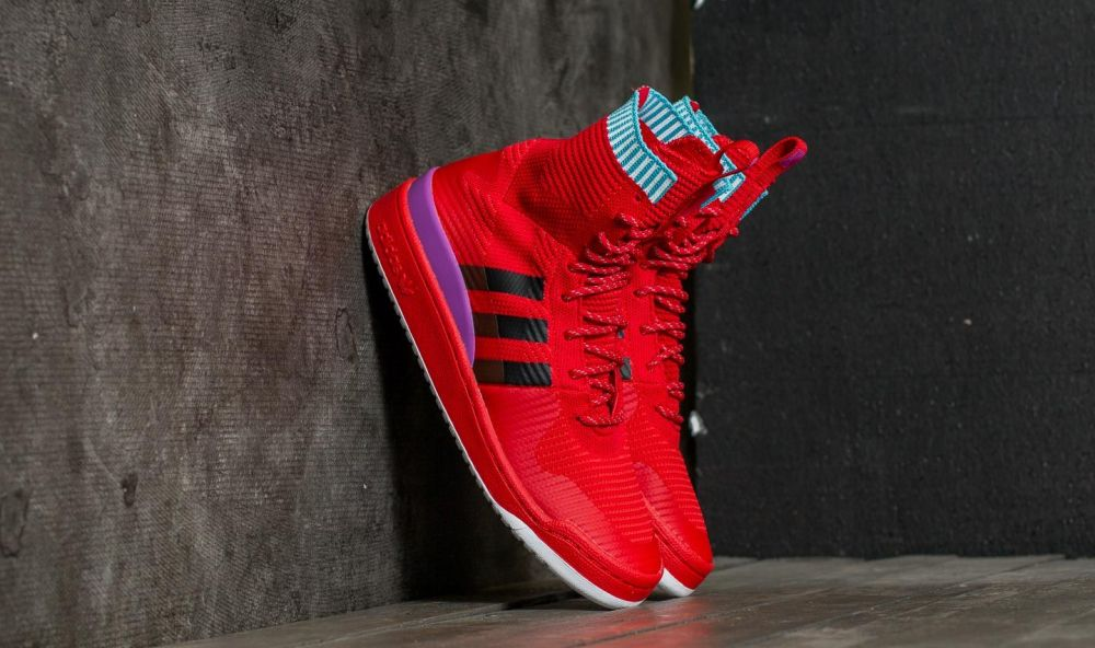adidas Forum Winter Primeknit Scarlet/ Core Black/ Shock Purple EUR 37 1/3