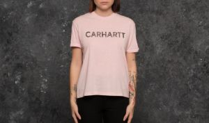 Carhartt WIP W Shortsleeve Holbrook Freehand T-Shirt Soft Rose Heather/ Black S